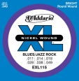 Corzi chitara electrica D'Addario  EXL115 Nickel Wound, Medium/Blues-Jazz Rock, 11-49