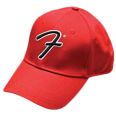 "Sapca Fender Big ""F"" Logo Stretch Baseball Cap, Red"