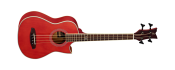 Ortega D-WALKER-RD Bass electro-acustic Short Red